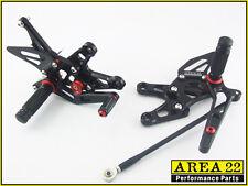 2006-2007 Kawasaki Ninja ZX-10R Area 22 Adjustable Rear Sets Black Rearset ZX10R