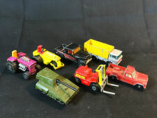 Matchbox Hot Wheels LOT Rod Roller Container Truck Tanker Pickup Fork Lift Toy