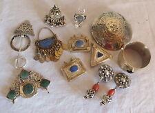 lot divers bijoux berbere argent métal argenté