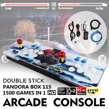 Original Pandora's Box 11S 1500 in 1 Double Stick Retro Arcade Console Support