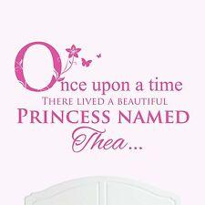 BELLISSIMA PRINCIPESSA Thea grandi muro adesivo / VINILE letto stanza arte Girl / Baby