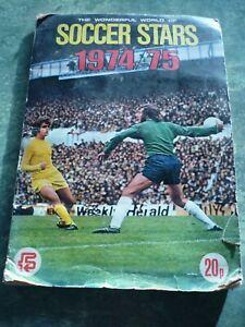 FKS Wonderful World Of Soccer Stars 74/75 Football Sticker Album COMPLETE ALBUM