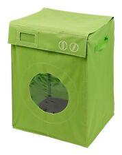 Panier à linge  '' Lave Linge / Machine à laver  ''  Vert   Corbeille Sac Bac