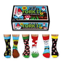 Verrückte Socken Oddsocks Fork It für Männer Strümpfe Forkt It Bunt im 6er Set