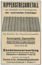 35/792 ANZEIGE AUS EINER ZEITUNG WERBUNG - RIPPENSTRECKMETALL DÜSSELDORF