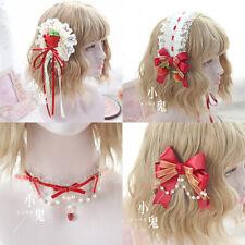 Strawberry Japanese Hair Pin Lolita Hair Accessories Sweet Kawaii Bow Headwear