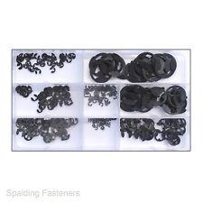 External Retaining Ring E-Clip Assortment Set 330 piece Metric sizes snap rings