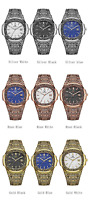 Vintage Style Mens Quartz Wristwatch Calendar Waterproof Fashion Luxury Watch