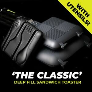 RIDGEMONKEY THE CLASSIC DEEP FILL SANDWICH TOASTER WITH FIXED HANDLES & UTENSILS