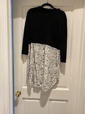 Cos Silk/ Knitted Dress Top Tunic Shirt  M Black
