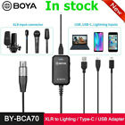 BOYA BY-BCA70 XLR to Lighting Type-C USB Audio Adapter for Iphone Smartphone PC