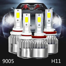 2Pair 9005 + H11 Combo LED Headlight Low High Beams Light Kit Bulbs 6000K