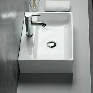 Keramik Waschbecken Lotus Effekt Waschschale - Tischmontage eckig  500*350*120mm
