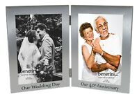 """40th Ruby Wedding Anniversary Double Twin Photo Frame Our Wedding Day Gift 4x6"""""""
