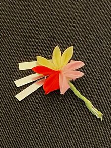 Vintage 1964 Mattel Barbie Doll In Japan #821 Ornament Fabric Flower & Dangles