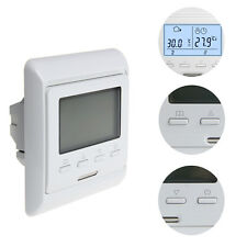 Weekly LCD Programmable Electrical Heating Air Thermostat Floor Controller 230V