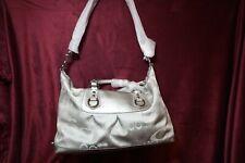NEW Coach Ashley Signature Garden Silver Grey Tote Bag Purse  F18424 New w/Tags