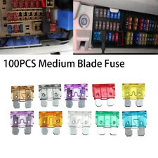 100pcs Assorted Standard Car Blade Truck SUV Fuse Assortment Kits Sets 3A-40A