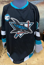 Unbranded Black Plymouth Canton Sharks Hockey Jersey Xxxl adult