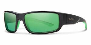 Smith Survey Green Mirror Lens Matte Black Frame Sunglasses