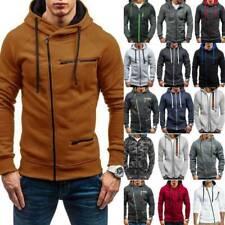 Mens Hoodie Hooded Jacket Sport Casual Sweatshirt Jumper Coat Outwear Fashion