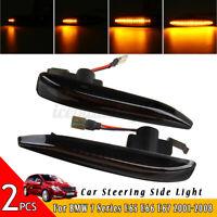 Flowing LED Turn Signal Side Marker Light Indicator For BMW 7 Series E65 E66 E67