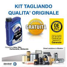 Kit tagliando olio ELF 5W40 5LT + 4 FILTRI TECNECO NISSAN MICRA NOTE 1.5 DCI