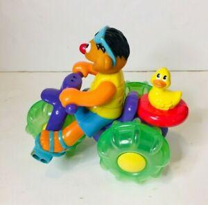 Vintage Ernie Sesame Street Water Bike Trike Bath or Floor Moving Toy 3 Wheeler