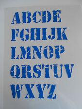 Schablone Buchstaben+ Zahlen im Satz Schrift Nr.5 auf A4