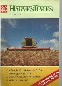 Three issues of Claas Harvest Times from 1991, 1994 and 2005