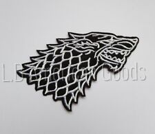 Game of Thrones STARK House Logo Aufnäher Patch 9 x 5 cm *SOFORTVERSAND*