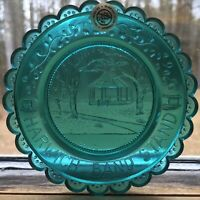 Harwich MA Band Stand Cape Cod Window Sill Decoration Pairpoint Glass Cup Plate