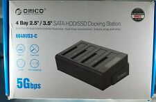 "ORICO 4 Bay Hard Drive Clone Dock 2.5"" & 3.5""HDD& SDD Docking Station 5Gbps Read"