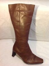 Lotus Brown Knee High Leather Boots Size 5