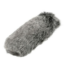 Mini Grey Fur Windscreen Windshield Wind Muff For Lapel Lavalier Microphone Mic