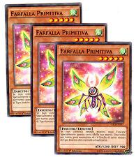 Set 3X  FARFALLA PRIMITIVA CROS-IT097 Comune in Italiano YUGIOH