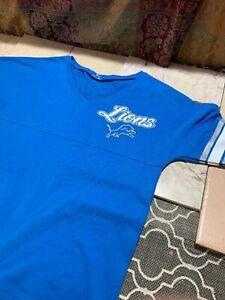 NFL Detroit Lions Womens Sweater Size M Grey Blue Grey long sleeve