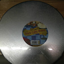 "Kingfisher 14""/35cm Round Cake Drum/Board Foil Covered & Wrapped. Home Baking."