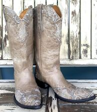 OLD GRINGO Boho Hippie Floral Embroidered Western Cowgirl Erin Boots Sz 10 B