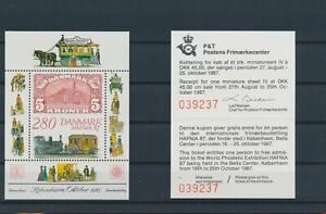 LN22134 Denmark 1987 philatelic exhibition sheets MNH