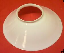 "4 3/4 "" fitter  12"" White Milk glass Hanging oil lamp shade"