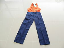 CAN'T TEAR  'EM WORKWEAR TWO TONE POLYCOTTON OVERALL ORANGE/NAVY SIZE 5/87R NEW