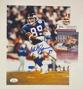 Mark Bavaro Signed 8x10 Photo Autographed AUTO JSA WITNESSED COA NY Giants
