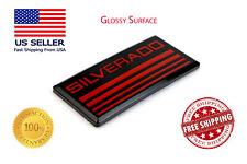 Chevy Silverado Emblem 07-19 Door/Fender Badge Sign Logo Red/Black Square Emblem
