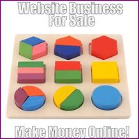EDUCATIONAL TOYS Website Earn £23 A SALE|FREE Domain|FREE Hosting|FREE Traffic