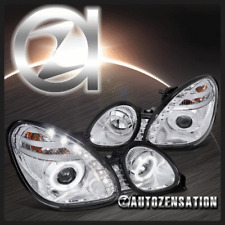 For 98-05 Lexus GS300/ GS400/ GS430 SMD LED Chrome Halo Projector Headlights