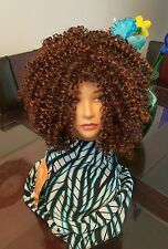 Rihanna's Style Women Afro Kinky Curly Synthetic Hair Wig Heat Resistant Fiber