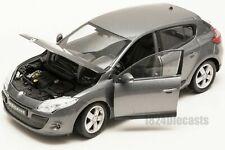 RENAULT MEGANE 2009 1/24 Scale Model Toy Car Diecast Metal Miniature Grey