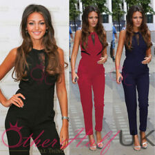 Petite Polyester Crew Neck Jumpsuits & Playsuits for Women