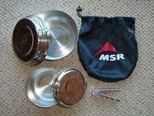 MSR Stainless Steel 2 Pot Alpine Cookware Cook Set 1.5 and 2 Ltr. Pots + Lifter